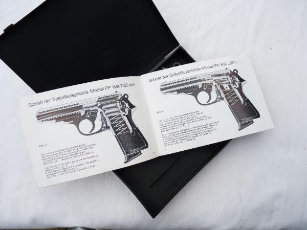 walther pp or ppk plastic carry case and instruction manual sold rh jaybe militaria co uk Walther PPK James Bond Connery Walther PPK 9Mm